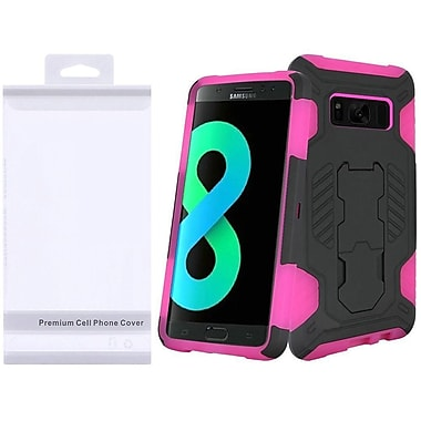 Insten SuperCoil Hybrid Hard Premium Kickstand Case with Package For Samsung Galaxy S8+ S8 Plus - Black/Hot Pink