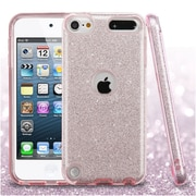 Insten Full Glitter Dual Layer Hybrid PC/TPU Case Cover For Apple iPod Touch 5th Gen / 6th Gen - Pink