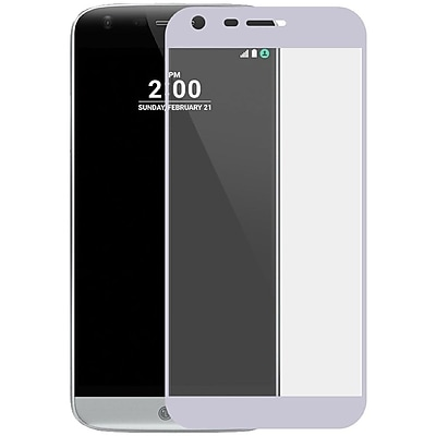 Insten Silver Edged Boundary Tempered Glass Screen Protector with Package For LG G6