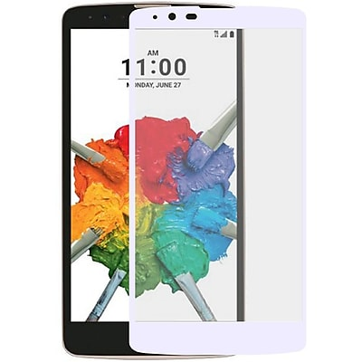 Insten Edged Boundary Tempered Glass Screen Protector with Package For LG Stylo 2 Plus - White