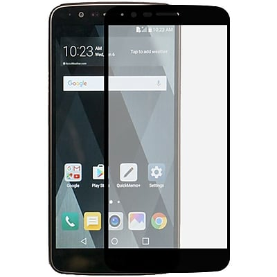 Insten Edged Boundary Tempered Glass Screen Protector with Package For LG Stylo 3 / Stylo 3 Plus - Black