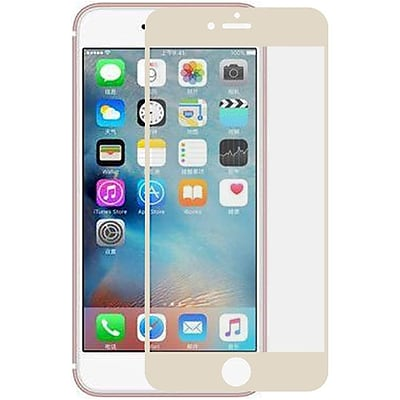 Insten Edged Boundary Tempered Glass Screen Protector with Package For Apple iPhone 7/ 8, Gold