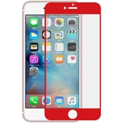 Insten Edged Boundary Tempered Glass Screen Protector with Package For Apple iPhone 7/ 8, Red