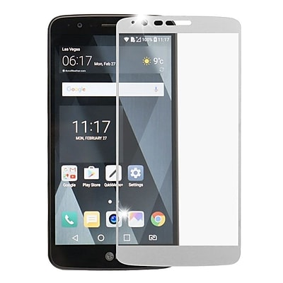 Insten Full Coverage Tempered Glass Screen Protector For LG Stylo 3 - Silver