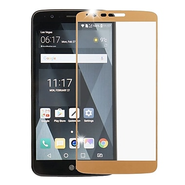 Insten Full Coverage Tempered Glass Screen Protector For LG Stylo 3 - Gold