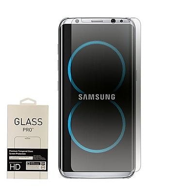 Insten 0.33mm 2.5D Highly Durable 9H Hardness Tempered Glass Screen Protector For Samsung Galaxy S8 - RETAIL - Clear