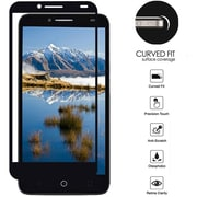 Insten Clear Full Coverage Tempered Glass Screen Protector Guard Film for ZTE Blade Z Max/Sequoia/Zmax Pro 2 - Black