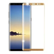 Insten Clear Full Coverage Tempered Glass Screen Protector Guard Film for Samsung Galaxy Note 8 - Gold