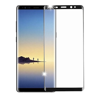 Insten Clear Full Coverage Tempered Glass Screen Protector Guard Film for Samsung Galaxy Note 8 - Black
