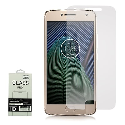 Insten 0.33mm 2.5D Highly Durable 9H Hardness Tempered Glass Screen Protector For Motorola Moto G5 Plus - RETAIL - Clear