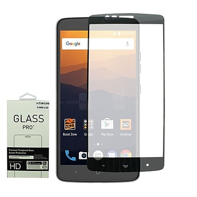 Insten Full Edge Highly Durable 9H Hardness Tempered Glass Screen Protector For ZTE Max XL N9560 - Black