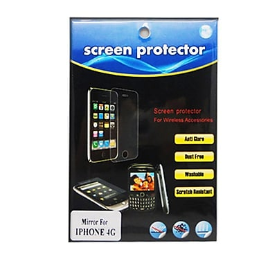 Insten Mirror Screen Protector LCD Film Guard For Apple iPhone 4 / 4S