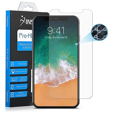 Insten Clear Nano Tech Glass Full Coverage Edge to Edge Screen Protector Guard Film for Apple iPhone X
