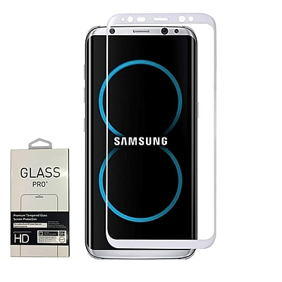 Insten 3D Full Coverage Tempered Glass Screen Protector For Samsung Galaxy S8 - White