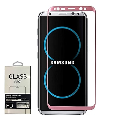 Insten 3D Full Coverage Tempered Glass Screen Protector For Samsung Galaxy S8 - Rose Gold