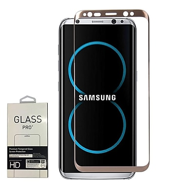 Insten 3D Full Coverage Tempered Glass Screen Protector For Samsung Galaxy S8 Plus - Gold