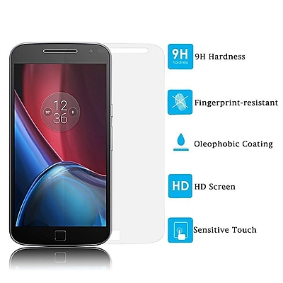Insten 0.33mm Arcing Clear Tempered Glass Screen Protector For Motorola Moto G4 Plus XT1644