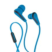 Wired Headset in-Ear Headphones with Integrated Microphone | Corded Stereo Earbuds with 3.5mm Jack - Blue
