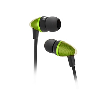 Wired Stereo 3.5mm Earbuds with Integrated Mic and Remote for iPhone iPod Samsung Galaxy HTC - Green
