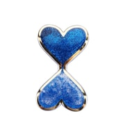 Insten Liquid Quicksand Floating Glitter Adhesive 3M Decal Sticker for Cellphone any Flat Surface - Double Hearts/Blue