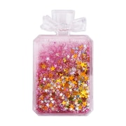 Insten Quicksand Floating Glitter Adhesive 3M Decal Sticker for Cellphone any Flat Surface - Perfume Bottle/Pink Stars