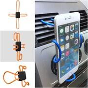 Insten Universal Rotating 360 Degree Ring Kickstand Hook Secure Grip Desk Car Mount Holder for Cell phone - Silver