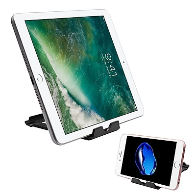 Insten Universal Roating 360 Degree Finger Grip Skullcap Metal Ring Holder Stand for Mobile Phone/Tablet - Silver/Black