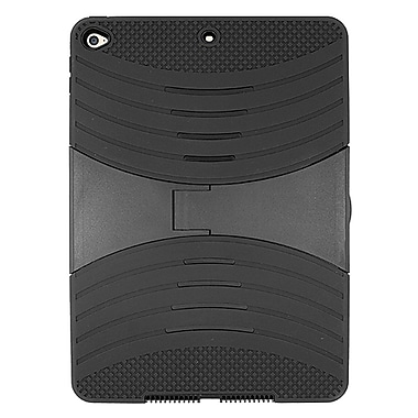 Insten Dual Layer [Shock Absorbing] Hybrid Stand Rubber Silicone/Plastic Case Cover For Apple iPad Air 2 - Black (2369954)