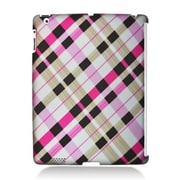 Insten Checker Rubberized Hard Snap-in Protective Back Case Cover For Apple iPad 2 / 3 / 4 - Multi-Color