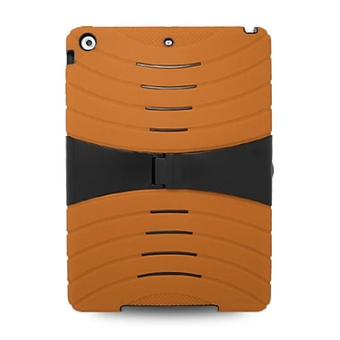 Insten Hybrid Dual Layer Stand Rubber Silicone/PC Case Cover For Apple iPad Air - Orange/Black