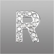 "Insten Glamorous Alphabet Patterned Letter ""R"" with White Crystal"