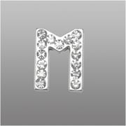 "Insten Glamorous Alphabet Patterned Letter ""M"" with White Crystal"
