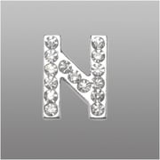 "Insten Glamorous Alphabet Patterned Letter ""N"" with White Crystal"