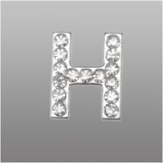 "Insten Glamorous Alphabet Patterned Letter ""H"" with White Crystal"