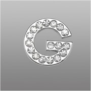 "Insten Glamorous Alphabet Patterned Letter ""G"" with White Crystal"