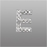 "Insten Glamorous Alphabet Patterned Letter ""E"" with White Crystal"