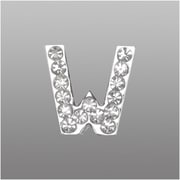 "Insten Glamorous Alphabet Patterned Letter ""W"" with White Crystal"