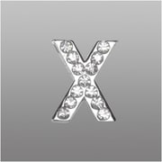 "Insten Glamorous Alphabet Patterned Letter ""X"" with White Crystal"