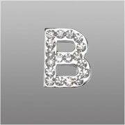 "Insten Glamorous Alphabet Patterned Letter ""B"" with White Crystal"