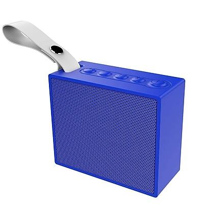 Insten Rechargeable IPX6 Waterproof Outdoor Mini Wireless Bluetooth 4.2 Speaker w/Selfie Mic for iPhone Samsung - Blue