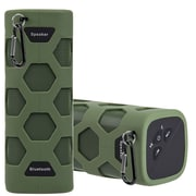 Insten Outdoor Sports Waterproof Rechargeable Bluetooth CSR 4.0 Wireless Stereo Speaker with Power Bank w/Clip - Green