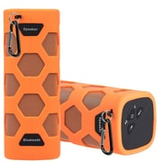 Insten Outdoor Sports Waterproof Rechargeable Bluetooth CSR 4.0 Wireless Stereo Speaker with Power Bank w/Clip - Orange