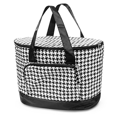 Zodaca Large Pinic Travel Outdoor Party Beach Food Drink Water Storage Camping Zip Cooler Bag - Black Houndstooth