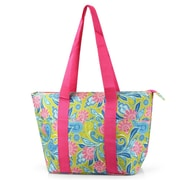 Zodaca Large Insulated Lunch Bag Cooler Picnic Travel Food Box Women Tote Carry Bags - Green/Pink Paisley
