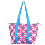 Zodaca Large Reusable Insulated Leak Resistant Lunch Tote Carry Organizer Zip Cooler Storage Bag - Pink Graphic