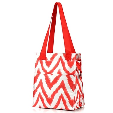 Zodaca Insulated Lunch Bag Women Tote Cooler Picnic Travel Food Box Zipper Carry Bags for Camping Hiking - Tie Dye Red