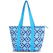 Zodaca Large Reusable Insulated Leak Resistant Lunch Tote Carry Organizer Zip Cooler Bag - Times Square Turquoise