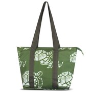 Zodaca Large Reusable Insulated Leak Resistant Lunch Tote Carry Organizer Zip Cooler Storage Bag - Green Turtle