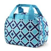 Zodaca Stylish Small Reusable Insulated Work School Lunch Tote Carry Storage Zipper Cooler Bag - Times Square Turquoise
