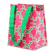 Zodaca Leak Resistant Reusable Insulated Lunch Tote Carry Storage Organizer Zip Cooler Bag - Pink Quatrefoil
